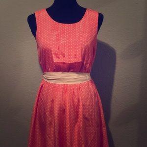 Vintage style pink polkadot dress